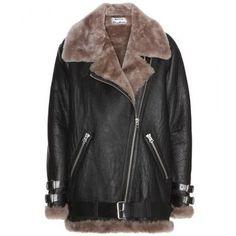Acne Studios - Velocite shearling jacket #jacket #acne #covetme #acnestudios