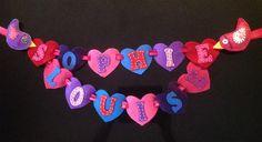 FELT HEART NAME BANNER Name Banners, Felt, Names, Felting, Feltro