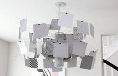 Лампа с оригинальным бумажным абажуром