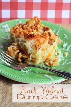 Peach Walnut Dump Cake