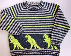 Foto af Dino-bluse i tynd bomuld Crochet For Kids, Knit Crochet, Jumper, Men Sweater, Pullover, Knitting, Uld, Sweaters, Google