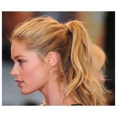 The A-listers who champion the practical ponytail ❤ liked on Polyvore featuring hair, cabelo and people