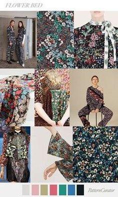 2018 primavera e no verão de cor tendência e previsão de impressão! Informações adicionais padrão de flor Botânico programação rica   lansfactory