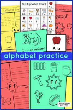 Alphabet Printables HUGE set! Two printables per letter PLUS extra charts, visual alphabet cards, and mini book! Send home for extra practice, use as morning work, or add to literacy centers and small groups.