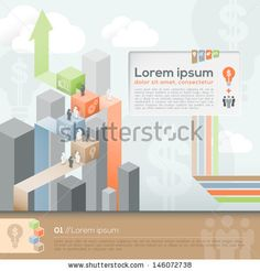 Vector Template for Info-graphics / workflow layout /Business plan/ Diagram / Brochure layout