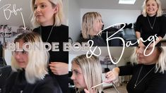 Blonde Bob & Bangs - YouTube Bob Bangs, Bob With Bangs, Blonde Bobs, Blonde Hair, Hair Colour, Color, The Creator, Youtube, Instagram