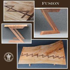Custom Made Fusion Live Edge Slab Table