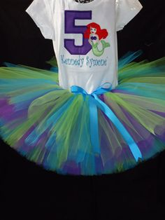 Complete Little Mermaid Birthday Outfit by Tuturrific on Etsy, $50.00