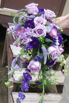 subtle cascade bouquet