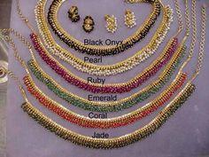Gold Jewellery Design, Bead Jewellery, Beaded Jewelry, Jewelry Necklaces, Ruby Jewelry, India Jewelry, Ruby Necklace, Simple Necklace, Gold Earrings