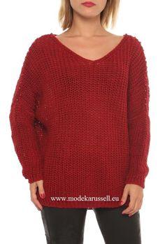 Damen V-Pullover Amy Rot