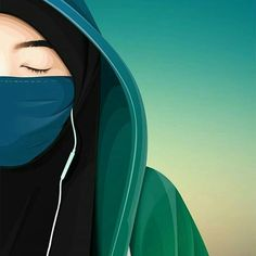 Anime Muslim, Muslim Hijab, Hijabi Girl, Girl Hijab, Muslim Girls, Muslim Women, Muslim Couples, Girl Cartoon, Cartoon Art