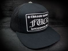 b4bed8043d9 CHROME HEARTS Trucker Cap FxxK Patch Black