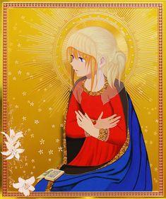 Hiroshi Mori- mixing anime with European religious painting