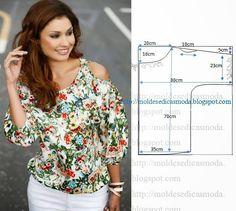 Plantillas de moda para Medida: BLUSA fácil de hacer - 6