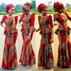 Today we will be taking a look at the latest Ankara styles for weddings. The Ankara fabric, with its African Dresses For Women, African Print Dresses, African Attire, African Wear, African Fashion Dresses, African Women, Ankara Fashion, African Shop, Nigerian Fashion