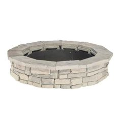 Natural Concrete Products Co 44 in. x 14 in. Concrete Fossill Limestone Round Fire Pit Kit-FSFPL - The Home Depot