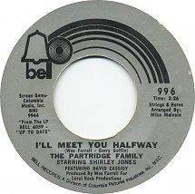 45cat - The Partridge Family - I'll Meet You Halfway / Morning Rider On The Road - Bell - USA - B-996