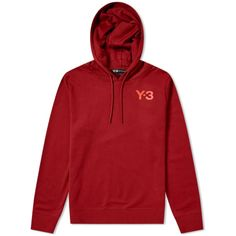 91e467cf0874 £159 Y-3 Classic Logo Popover Hoody Rust Red 1