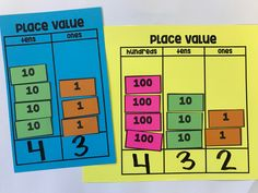 Place Value {Hands on Learning} Math Classroom, Kindergarten Math, Teaching Math, Teaching Time, Math Math, Math Fractions, Math Resources, Math Activities, Place Value Activities