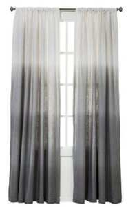 2 Threshold For Target GRAY Ombre Stripe Window Curtain Panels 54x84 New