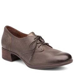 Dansko Louise Nappa Leather Stone Shoes - HappyFeet.com