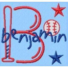 Baseball - Monogram font 23 - FSF
