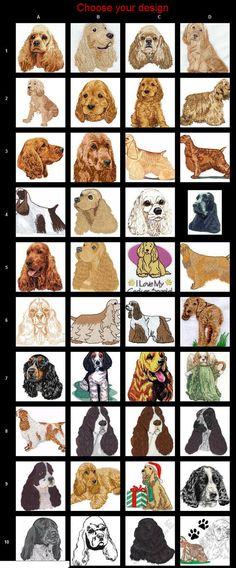 Custom Embroidered Cocker Spaniel Tshirt by SewUnusuals, Black Cocker Spaniel, American Cocker Spaniel, Cocker Spaniel Puppies, English Cocker Spaniel, Dog Artwork, Dog Branding, Pet Portraits, Dog Life, Dog Lovers