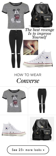 """""""Untitled #706"""" by maryanarivera on Polyvore featuring Topshop, Converse, Coach, women's clothing, women's fashion, women, female, woman, misses and juniors"""