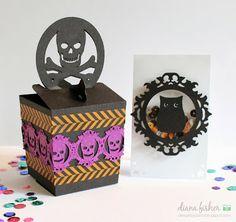 Samantha Walker's Imaginary World: Halloween Box and Card Gift Tutorial by Diana