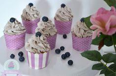 Blaubeer Cupcakes mit Lemon Curd Füllung <3 Blueberry Cupcakes with homemade Lemon Curd