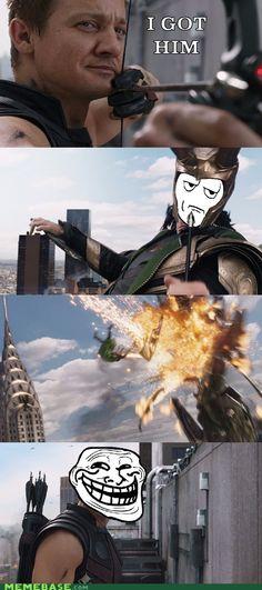 Hawkeye trolling.