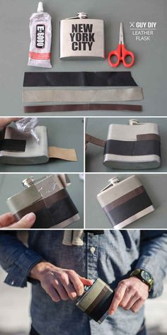 Leather-Wrapped Flask