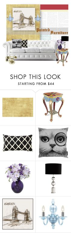 """""""Painted Furniture.."""" by vkevans ❤ liked on Polyvore featuring interior, interiors, interior design, home, home decor, interior decorating, Seabrook, CHESTERFIELD, MacKenzie-Childs and Serena & Lily"""