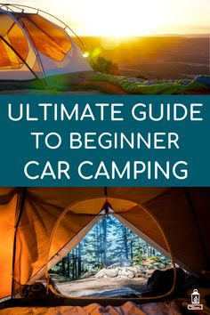 Ultimate Guide to Car Camping for Beginners All the gear beginners need to start car camping. How to choose a tent and which sleeping bag to pick for a cozy camping trip. Essentials, tips and tricks for beginner car campers. Auto Camping, Camping Snacks, Tent Camping, Outdoor Camping, Camping Storage, Camping Stuff, Walmart Camping, Camping Cups, Stealth Camping