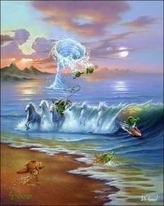 godard art with jim warren commotion in the ocean