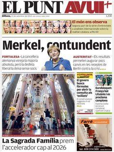 Los Titulares y Portadas de Noticias Destacadas Españolas del 23 de Septiembre de 2013 del Diario El Punt AVUI ¿Que le pareció esta Portada de este Diario Español?