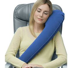 Travelrest Ultimate Travel Pillow & Neck Pillow - Straps to Airplane Seat & Car - Best Accessory for Plane, Auto, Bus.