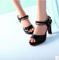 DROPKICKS STOCK ITEM  2015 women new fashion spring summer sexy princess  casual sandals 9cm high thick heel platform shoes large plus size 40-43 c51cb567439e