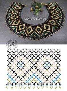 Diy Necklace Patterns, Seed Bead Patterns, Beaded Jewelry Patterns, Beading Patterns, Seed Bead Jewelry, Bead Jewellery, Jewelry Making Beads, Motifs Perler, Bead Crochet