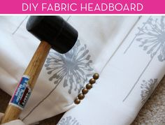 Easy #DIY fabric headboard tutorial!