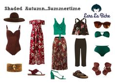 shaded autumn summertime by laralabiche on Polyvore featuring moda, River Island, MANGO, Sans Souci, Marlies Dekkers, WearAll, Brigitte, Birkenstock, Fergie and Studio Chofakian