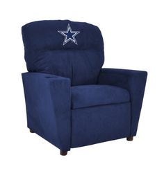 Imperial Officially Licensed NFL Furniture: Youth Microfiber Recliner, Dallas Cowboys