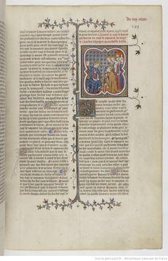 Grandes Chroniques de France Fol 395r, 1375-1380, Henri du Trévou & Raoulet d'Orléans