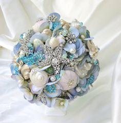 Tiffany Blue Bridal Bouquet She Shell Bouquet