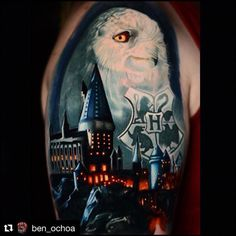 Beginning of Harry Potter half sleeve by Ben Ochoa Black Anchor Collective Hesperia CA