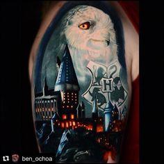 Beginning of Harry Potter half sleeve by Ben Ochoa Black Anchor Collective Hesperia CA