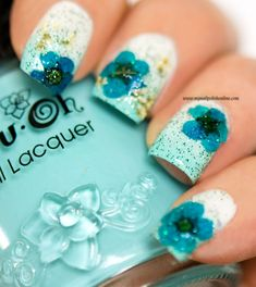 486 129 12 x unique dry dried flower uv nail art design nail art floral design with dry flowers prinsesfo Choice Image