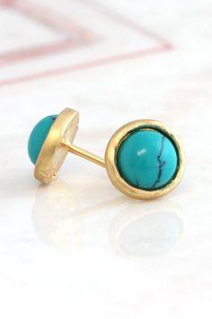 Turquoise Earrings,Small Stud Earrings,Turquoise Mini Studs,Gift for her,Minimalist Earrings,Turquoise Petite Earrings,Turquoise gold Studs Delicate  #turquoise, #atuds, #jewelry, #earrings, #studs, #giftforher