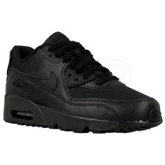 new products ac49a 53e42 Markowe Buty Nike Air Max 90 Mesh GS Czarny